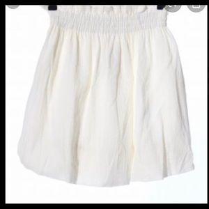 Zara white balloon skirt size medium